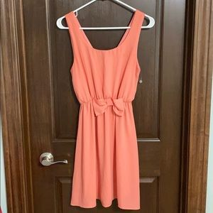 Everly Pink Bow Dress
